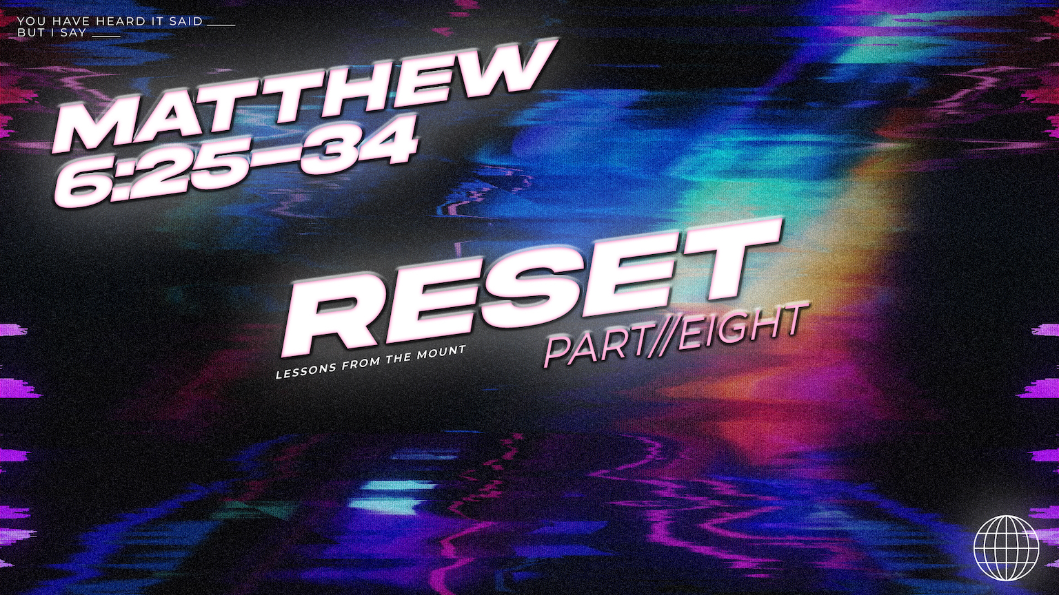 Reset // Matthew 6:25-34 // Week 8